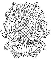 Small Picture Sugar Skull Owl coloring page Free Printable Coloring Pages