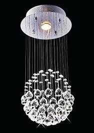 crystal rain chandelier small modern chandeliers mini lamps plus chain pendant