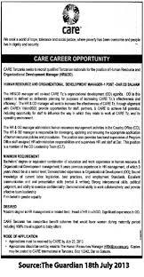 human resource and organizational development manager tayoa job description