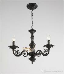 wrought iron black chandelier light small black lighting md