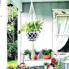 hanging plants outdoor outdoor plant hangers macrame hanging planter flower pot holder for outdoor plant hangers