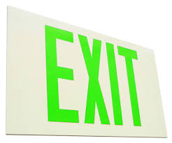 Exit Sign Lighting Requirements Elco Lighting Ee80s Self Illuminating Exit Sign Green Or Red Letters