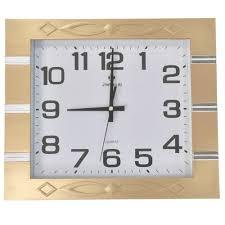 35 rectangle wall clock gold frame