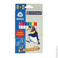 """Купить <b>фломастеры centropen</b> """"<b>erasable</b>"""", 8+2 цветов, ширина ..."""
