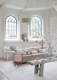 white and pastel interior, beautiful windows