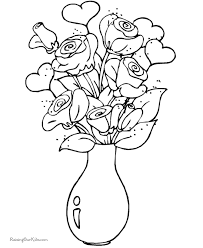 Small Picture Valentines Day Flower Coloring Pages