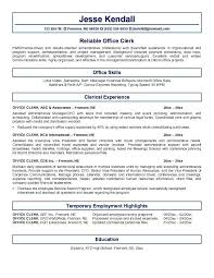 Clerical Resume Template Best Clerical Resume Templates Foodcityme
