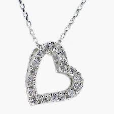 home products accessories jewelry pendant small sideways sterling silver charming open heart