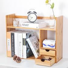 freya office bamboo desktop bookshelf simple table small bookcase shelf bookcase bookcase desk tops free