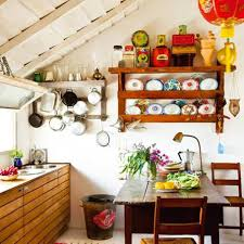 Small Farmhouse Kitchen Small Farmhouse Kitchen Ideas With Open Shelves With Racks And