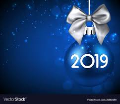 New Year Backgrounds Blue 2019 New Year Background With Christmas Ball Vector Image
