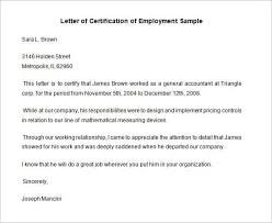 Sample Of Employment Certification Letter Employee Certificate Letter Format Or 40 Employment