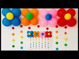 very easy birthday party decoration