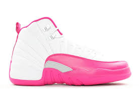 jordan shoes for girls 2015 pink. best girls air jordans 12 \u201cvalentine\u0027s day\u201d white/vivid pink-dynamic pink jordan shoes for 2015 a