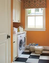 Laundry Room: Best Orange And Colored Laundry Room Design 2013 - Basement  Design