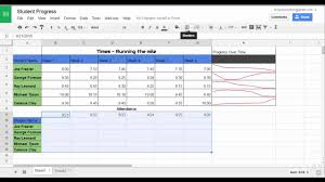Track Progress In Excel Tracking Student Progress With Google Sheets