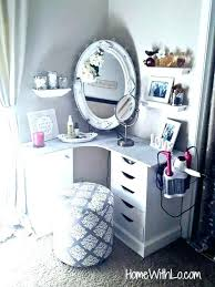 Cute Organization Ideas Bedroom Vanity With Storage Super Easy And Cheap  Makeup Diy
