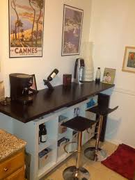 breakfast bar with lot of storage space