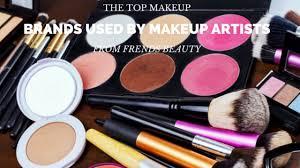 top makeup brands used by makeup artists