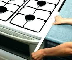 countertop gap filler downdraft stove home depot