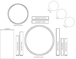 Place Setting Template Simple Dinner Plate Template Comeunity