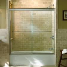 sliding shower doors over tub. Plain Tub K702211LSHP Fluence Tub U0026 Shower  Sliding Door Bright Polished  Silver At FergusonShowroomscom Inside Doors Over S