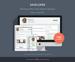 Bootstrap Website Developer Free Bootstrap 4 Portfolio Theme For Developers
