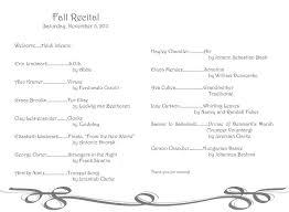 Vocal Recital Program Template Magdalene Project Org