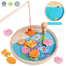 Green Magnet Fishing Light Review Usatdd Magnetic Fishing Game Wooden Number Magnets Catching Fish Toy Board Games With Magnet Fishing Poles Educational Preschool Learning Toys For 3 4