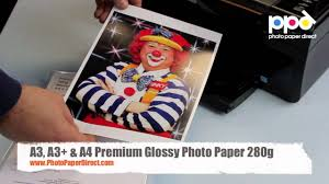 A3 and A4 <b>Premium Glossy Photo</b> Paper 280g - YouTube