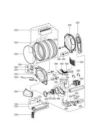 samsung dryer parts. drum and motor parts assembly diagram \u0026 parts list for model dle2140w lg-parts dryer samsung d