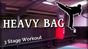heavy bag workout for power kicking kickboxing and muay thai drill 3 ses easy to hard