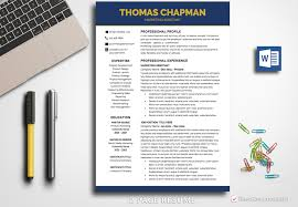Business Resumes Templates Resume Template Thomas Chapman BestResumes 23