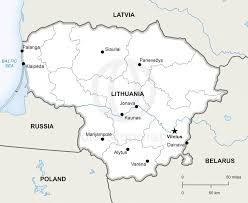 vector map of lithuania political  one stop map