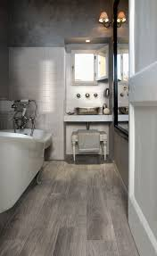wood effect porcelain for the powder room