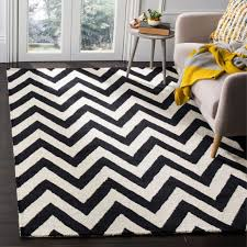 safavieh handmade moroccan cambridge chevron black wool rug 8 x 10 cam139e 8