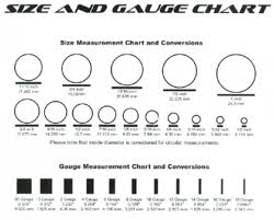 Body Jewelry Measurement Chart 14 High Quality Gauge Piercing Size Chart