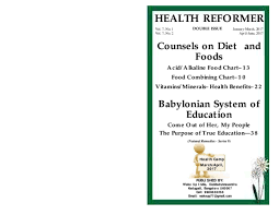 Alkaline And Acidic Food Chart Pdf Pdf Counsels On Diet And Foods Babylonian System Of
