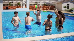 swimming pool beach ball background. Group Of Young Friends Playing Volley Ball In The Swimming Pool. Summertime Pool Party. Slowmotion Shot Stock Video Footage - Videoblocks Beach Background