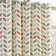 Geometric Patterned Curtains Neo Geometric Modern Leaf Print Lined Eyelet Curtains Ready Made