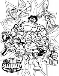 Small Picture Magnificent Super Hero Squad Coloring Page NetArt