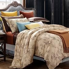 brown duvet cover queen. Unique Queen Asian Garden 7piece Queen Cotton Duvet Cover Set With Brown R