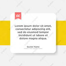 Vector Quote Template With Text Placeholder In Trendy Style Paper