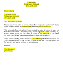 Letters For A Teacher Teacher Resignation Letters Download Pdf Word