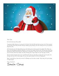 easy free letters from santa claus to children with regard to letter from santa template