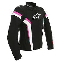 alpinestars stella t gp plus r v2 textile jacket black white fuchsia
