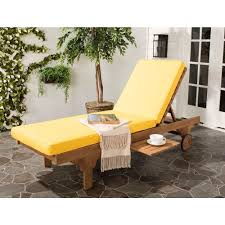 chaise lounge chair cushions. Yellow Lounge Chair Cushions Fresh Safavieh Newport Teak Brown Outdoor Patio Chaise With A