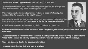 Oppenheimer Quotes Gorgeous DrMadhuTeckchandani On Twitter Bibekdebroy Via SchoolVedic J
