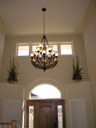simple entryway chandelier