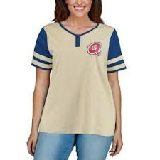 Details About Majestic Atlanta Braves Womens Cream Royal Plus Size Cooperstown Collection